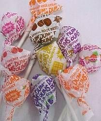 "Loved these.   I remember one time my friend Jeremy and I stayed after class in the 4th grade and helped our teacher clean the classroom. She gave us Dum Dums as a treat and said ""A Dum Dum for the Dum Dums."" She was teasing of course :)"