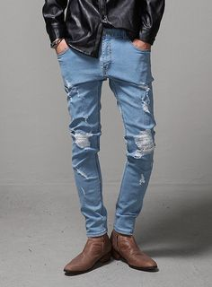 Super Skinny Stretch Mens Jeans