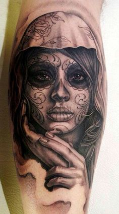 Women face tattoo