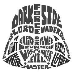 Shop for York Wallcoverings Star Wars Typographic Darth Vadar Peel and Stick Giant Wall Decals. Get free delivery On EVERYTHING* Overstock - Your Online Art Gallery Shop! Plotter Silhouette Cameo, Silhouette Cameo Projects, Silhouette Design, Silhouette Files, Star Wars Silhouette, Vinyl Crafts, Vinyl Projects, Vinyl Decals, Wall Decals