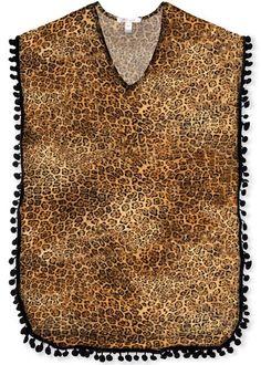 Cheetah print beach cover-up poncho to match the cheetah swimsuit and bikini. Beach Cover Ups, Girls Bathing Suits, Poncho, Swimsuits, Bikinis, Cheetah Print, Strand, Dog Tag Necklace, Beachwear