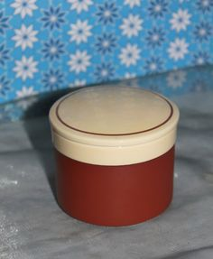 Hornsea Cinnamon Lidded Pot Orange and White Pattern Designed by John Clappison by AtticBazaar on Etsy White Patterns, Cinnamon, Orange, Trending Outfits, Etsy, Design, Canela