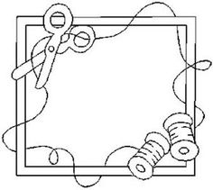 Sewing frame for embroidery that could be used as a quilt label? Hand Embroidery Patterns, Applique Patterns, Embroidery Applique, Cross Stitch Embroidery, Quilt Patterns, Machine Embroidery, Embroidery Designs, Quilting Tips, Machine Quilting