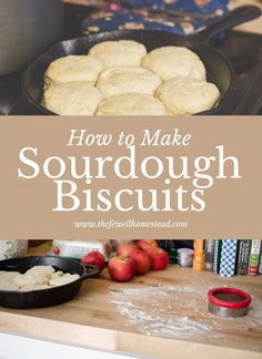 How to Make Sourdough Biscuits — Amy Fewell — The Fewell Homestead Sourdough Biscuits, Sourdough Recipes, Bread Recipes, Sourdough Rolls, Real Food Recipes, Cooking Recipes, Sweet Recipes, Yummy Recipes, Yummy Food