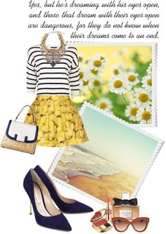"""""""HERE COMES THE SUMMER SUN"""" by paint-it-black ❤ liked on Polyvore"""