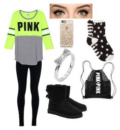 """""""Shopping day"""" by jennhatchette ❤ liked on Polyvore featuring NIKE, UGG Australia, Kate Spade, Casetify, Free Press, women's clothing, women's fashion, women, female and woman"""