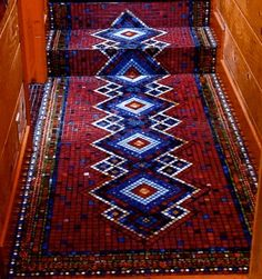 gorgeous carpet made of mosaics...love the design but would rather just the risers were done in mosaic