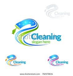 Cleaning Service vector Logo design, Eco Friendly Concept with shiny splash isolated on white Background Cleaning Company Logo, Cleaning Service Logo, Cleaning Business Cards, Cleaning Companies, Cleaning Logos, Cleaning Services, Machine Logo, Vector Logo Design, Professional Logo Design
