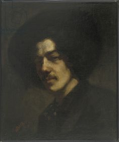 Portrait of Whistler with a Hat, (oil on canvas) by James Abbott McNeill Whistler / Freer Gallery of Art, Smithsonian Institution, USA James Abbott Mcneill Whistler, Whistler's Mother, Victorian Portraits, Freer Gallery, Most Famous Paintings, National Portrait Gallery, Expositions, American Artists, Art Google