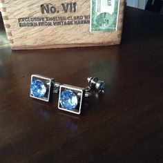 A personal favorite from my Etsy shop https://www.etsy.com/listing/253813039/vintage-blue-stone-cuff-links-circa-1960
