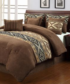 Take a look at this Brown Santa Fe Comforter Set on zulily today!