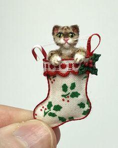 Escala 1:12 Ginger Cerâmica Pet Gato Gatinho Jardim Casa Boneca Animal Ornamento S