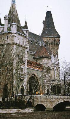 Medieval, Vajdahunyad Castle in Budapest, Hungary