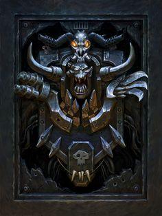 Deathwatch, Imperial Fist, Space Marine, Warhammer 40k, Cover Art, Lion Sculpture, Darth Vader, Fan Art, Statue