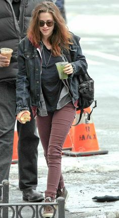 Hot Summer Sale: Kristen Stewart strolls in J BRAND's 485 Luxe Sateen Super Skinny Legging in Imperial. Shop our Limited Sale up to 40% off, ends 5/27.