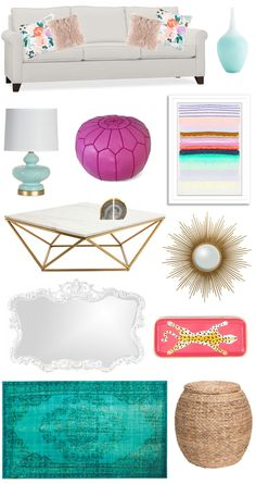 Glam Living Room Decor I  AMIXOFMIN.COM