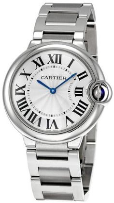 Cartier Midsize W69011Z4 Ballon Bleu Stainless Steel Watch Cartier. $4609.50. Swiss Made watch with Cartier Calibre 690 Swiss-quartz movement. Water-resistant to 99 feet (30 M). Solid stainless steel case and bracelet. Roman numeral silvered opaline dial; Sword-shaped blued steel hands; Stainless steel fluted crown set with synthetic cabochon spinel crystal. Scratch-resistant sapphire crystal; Case diameter: 36 mm. Save 11%!
