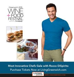 Mix and mingle with Celebrity Chefs Rocco DiSpirito and John Stage over cocktails while attending the 2015 Most Innovative Chefs Gala at #GWFF15 #GreenwichCT Award winning chefs create and serve up their top dishes. Guests will enjoy exquisite wine & cocktails, live music by The Wailers, and lots more. Purchase tickets now at:  http://www.livinggreenwich.com/purchase-vip-tickets-to-a-chef-rocco-dispirito-meet-and-greet-cocktail-party-living-greenwich-exclusive/