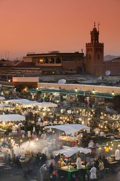 Take me back. Best mint tea and spiced lamb dishes in the world.   Food Stalls, Djemma el-Fna Square, Marrakash, Morocco