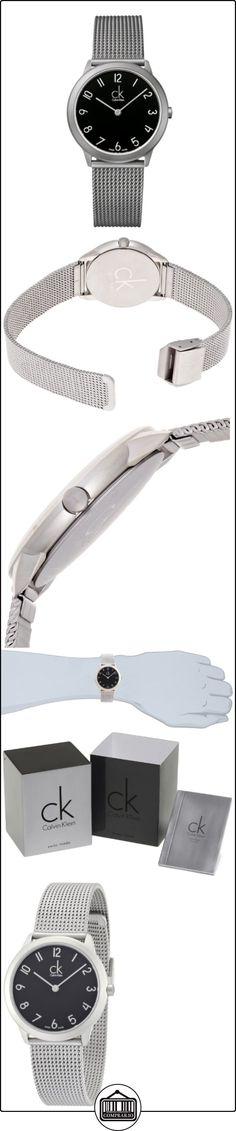 Calvin Klein K3M52151 - Reloj analógico de cuarzo para mujer con correa de acero inoxidable, color plateado  ✿ Relojes para mujer - (Gama media/alta) ✿