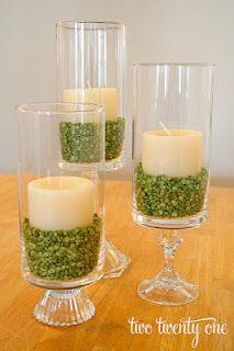 cute - lentils as vase filler.