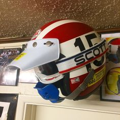Here is the helmet from the 1975 Super Bowl of Motocross race. Remember keeping some of your gear gives you cool memories and conversations later in life. It tells a great story of your adventures. #motocrosshistory #motomemories#paintityourself#personalstyle#bestoftimes #openfacehelmet#helmetoftheday#dgvmg #dgcollection