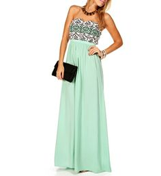 Mint Tribal Maxi Dress... Ale