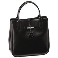 Top handle bag - Roseau - Bags - Longchamp - Black - Longchamp United-Kingdom