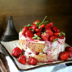 #delicious Strawberry and Mint Torte #foodie