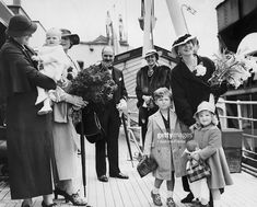 Former Queen Marie Of Romania, Born Princess Of Great Britain (Right) With Her Two Grand-Children, Archduke Stefan Of Austria-Tuscany And Archduchess Marie Ileana Of Austria-Tuscany, Son And Daughter Of Princess Ileana Of Romania (Left, With The Flowers). Princess Alexandra, Princess Beatrice, Princess Elizabeth, Queen Victoria Family, Princess Victoria, Michael I Of Romania, Romanian Royal Family, Archduke, Bucharest Romania