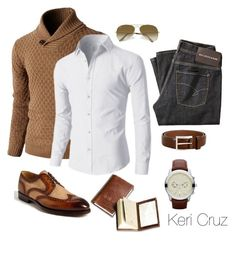 Distinguished by keri-cruz on Polyvore featuring мода, MICHAEL Michael Kors, Ray-Ban, Baldessarini, Allen-Edmonds and Magnanni