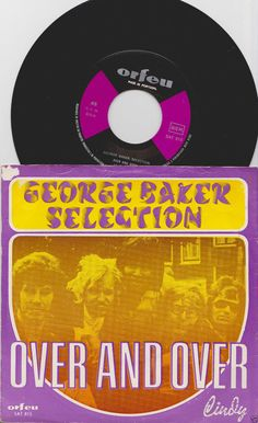 """GEORGE BAKER Selection Over and Over 1970 Portugal Issue 7"""" 45 rpm Vinyl single music pop Rock 60s 70s sat815 Free s&h"""