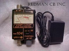 Redman CB AC 110v Lighted Custom Workman 104 SWR / Power METER for VHF / UHF Ham Radio 120 - 500 MHz by Workman. $44.95. Custom from Redman CB with 110vt lighted meter ,ready to drop in your pocket and go do that quick test and More ! . .  120-500 MHz SWR / Wattmeter... The Workman 104 SWR meter is a great value for the money. It is ruggedly built and has an easy-to-read meter. Designed to be mounted to a bulkhead, it can be used as a stand alone, in-line meter as well.