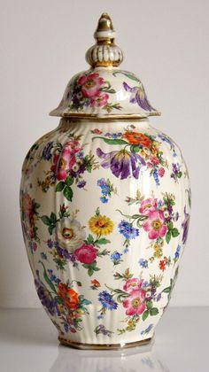 Vintage Boch Freres Keralux Ceramic Basket Vase Fleurs