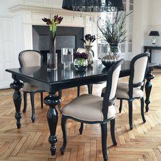 Mesa de comedor de madera ... - Barocco