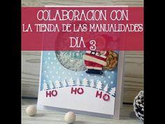 Colaboración con La tienda de las manualidades Día 3: Tarjeta Navideña - YouTube