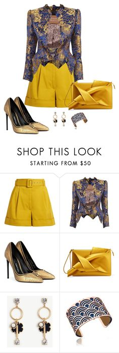 """Shorts2"" by doramoleiro ❤ liked on Polyvore featuring Isa Arfen, Vivienne Westwood Gold Label, Tom Ford, N°21, Ann Taylor, Les Georgettes and shorts"