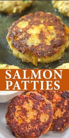 This Salmon Patty Recipe is true, tested, and loved. The patties are crispy on the outside and tende Best Seafood Recipes, Meat Recipes, Vegetarian Recipes, Cooking Recipes, Grilling Recipes, Seitan Recipes, Recipes For Fish, Best Vegetable Recipes, Griddle Recipes
