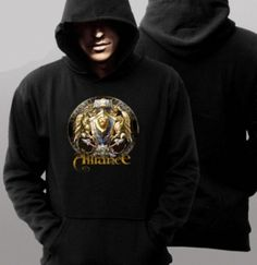 World of warcraft hoodie for men design alliance trendy plus size