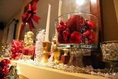 christmas balls and vase - Google Search