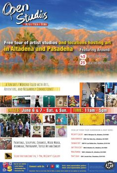 The Open Studios Tour is a multi-location event featuring the art of many of our local artists, makers, and creative in Altadena and Pasadena.  Kicking off the event on Friday, June 5, McGinty's will host our Silent Auction. Be sure to stop by and see all the wonderful things you can bid on!  Hoopla! Emporium will host Room 13 artists from our local schools and will be showcasing their art on June 6 and 7. We hope to see you on the tour!