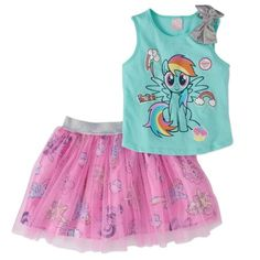My Pony Little Tutu Outfits For Girls Tulle Skirt and Bow Matching Shirt 2 pc Green/Pink >>> You can obtain even more information by clicking the picture. (This is an affiliate link). My Little Pony Set, My Little Pony Dress, Hasbro My Little Pony, Tutu Outfits, Kids Outfits, Girls Tulle Skirt, Bow Tank Tops, 2 Piece Outfits, Matching Shirts