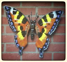 Vosje tuindecoratie vlinders Www.creativeartbyjessica.nl