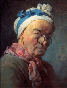 Self-Portrait with Spectacles, 1771  Jean-Baptiste-Simeon Chardin