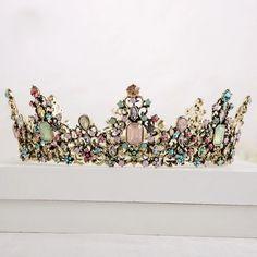 Fabulous Colorful Queenly Crown – FairytaleCreators Fairy Dust, Fairy Tales, Crystal Jewelry, Crystal Rhinestone, Our Wedding, Dream Wedding, Wedding Dreams, Wedding Stuff, Bedroom Eyes