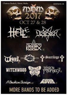 Long Live The Loud 666: MALTA DOOM METAL FESTIVAL 2017 WITH:SACRILEGE,HELL...