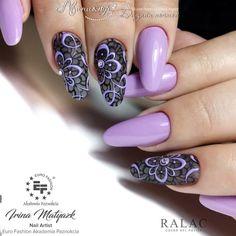 and Beautiful Nail Art Designs Elegant Nail Designs, Short Nail Designs, Elegant Nails, Nail Art Designs, Fancy Nails, Cute Nails, Pretty Nails, Fabulous Nails, Gorgeous Nails