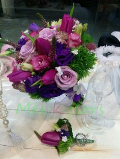 wedding bouquets purple www.meskflors.com
