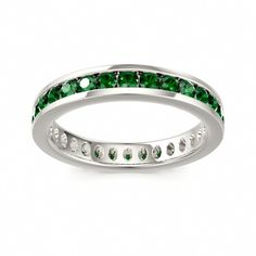 Classical Eternity Ring BOULEVARD at Colors of Eden #green