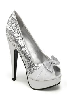 Silver Glitter Satin Bow Platform Open Toe Pump Heels @ Amiclubwear Heel Shoes online store sales:Stiletto Heel Shoes,High Heel Pumps,Womens High Heel Shoes,Prom Shoes,Summer Shoes,Spring Shoes,Spool Heel,Womens Dress Shoes,Prom Heels,Prom Pumps,High He